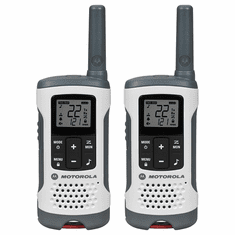 Motorola Talkabout T260 Rechargeable 2-Way Radio, White (2-Pack)