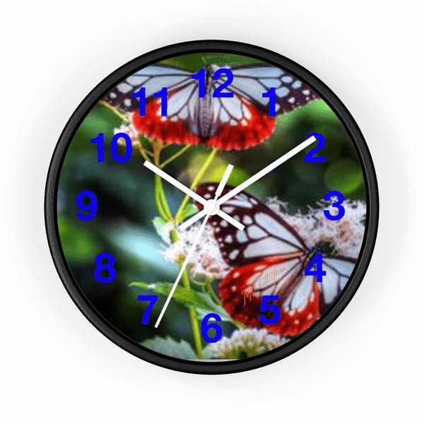 "MV Collection 138384771 ""Blue Butterfly"" Wall Clock"