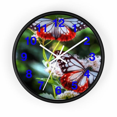 """MV Collection 138384771 """"Blue Butterfly"""" Wall Clock"""