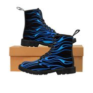 "MV Collection ""Blue Flames"" Men's Martin Boots"
