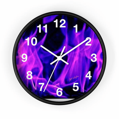 """MV Collection """"Blue Flames"""" Wall clock"""