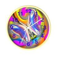 MV Collection WBW Wild Butterfly Wood Clock