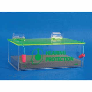 National Marker, Acrylic Compact Ear Plug Dispenser With Cover