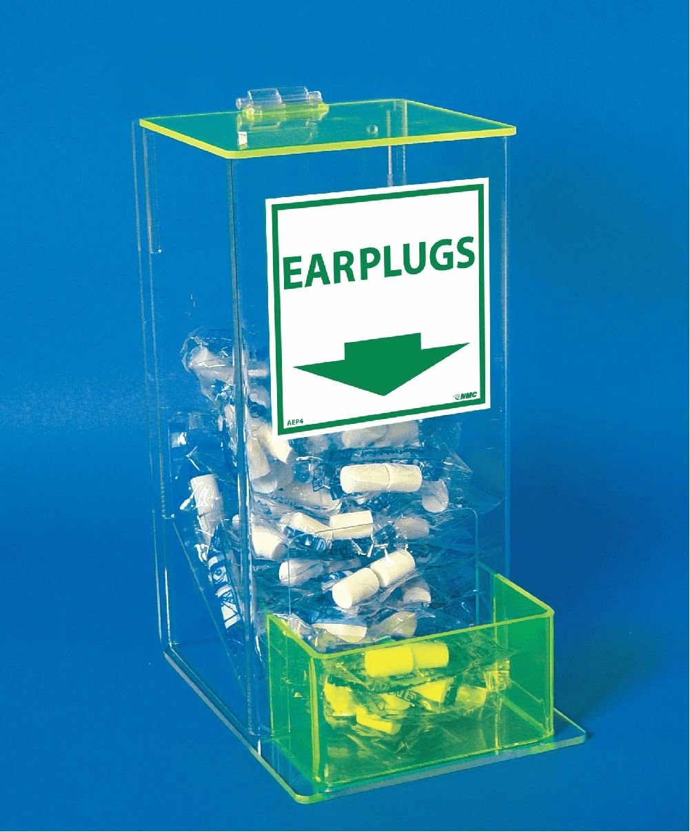 National Marker, Acrylic, Ear Plug Dispenser With Cover