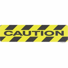 """National Marker AGT39CAU Caution,  6""""x 24"""" Non Skid Anti Slip Traction Cleat"""