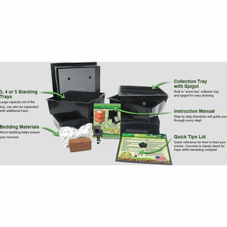 Natures Footprint, WF360 Worm Factory? 360 Worm Bin, Next Generation 4 Tray Vermicomposting System