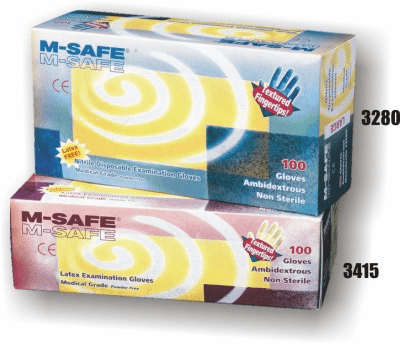 Nitrile, Disposable, 4 Mil, Textured Fingertips, Powder Free