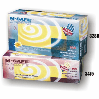 Majestic 3280 Exam Nitrile, Disposable, 4 Mil, Textured Fingertips, Powder Free