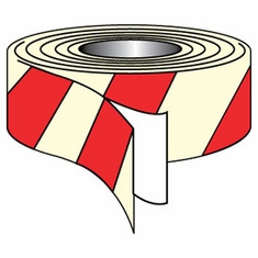 """NMC, 2"""" X 30' Glow And Red Striped Tape"""