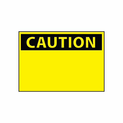 NMC, Blank Caution Sign