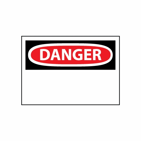 "NMC D1RB Blank ""DANGER"" Ridged Plastic Sign 7"" X 10"""