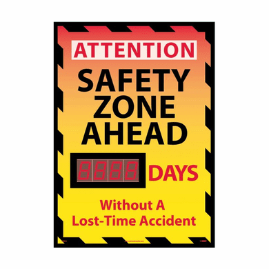 NMC DSB55 Attention Safety Zone Ahead Scoreboard