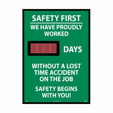NMC DSB8 Safety First We Have Proudly Worked Digital Scoreboard