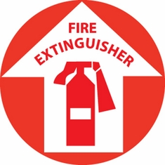 NMC WFS9 Fire Extinguisher Anti Skid Floor Sign
