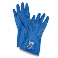 North� Nitri-Knit� NK803IN/10 Insulated Blue Rough Finish Nitrile Gloves 12/Pr