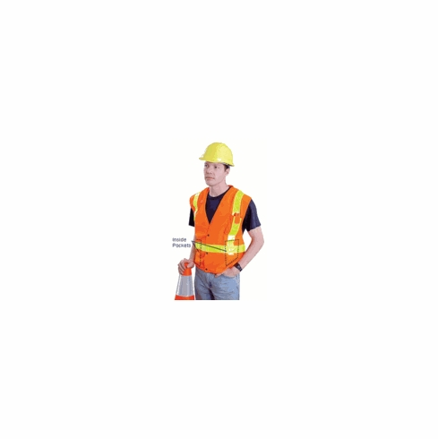 Occulux L' Orange Surveyors Vest W/ 13 Pockets & Zipper