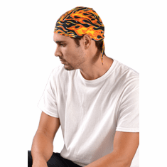 Occunomix TN5-FLA Tough Noogies Tie Hat Doo Rag - Big Flame