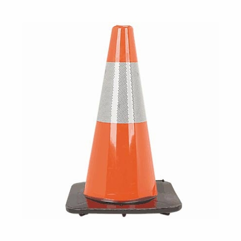 "Orange Traffic Cone with 6"" 3M Reflective Collar"