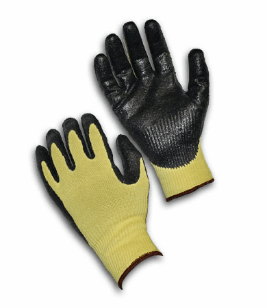 PIP, G-Tek� CR Seamless Knit Kevlar� Glove with Nitrile Coated Smooth Grip on Palm & Fingers - Medium Weight