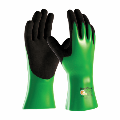 """PIP, MaxiChem® Nitrile Blend Coated Glove with Nylon / Lycra Liner and Non-Slip Grip on Palm & Fingers - 12"""""""