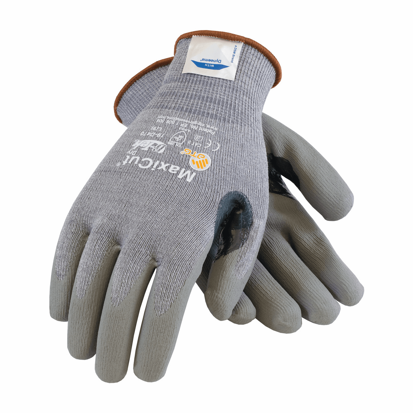 PIP, MaxiCut� Seamless Knit Dyneema� / Engineered Yarn Glove with Nitrile Coated Foam Grip on Palm & Fingers
