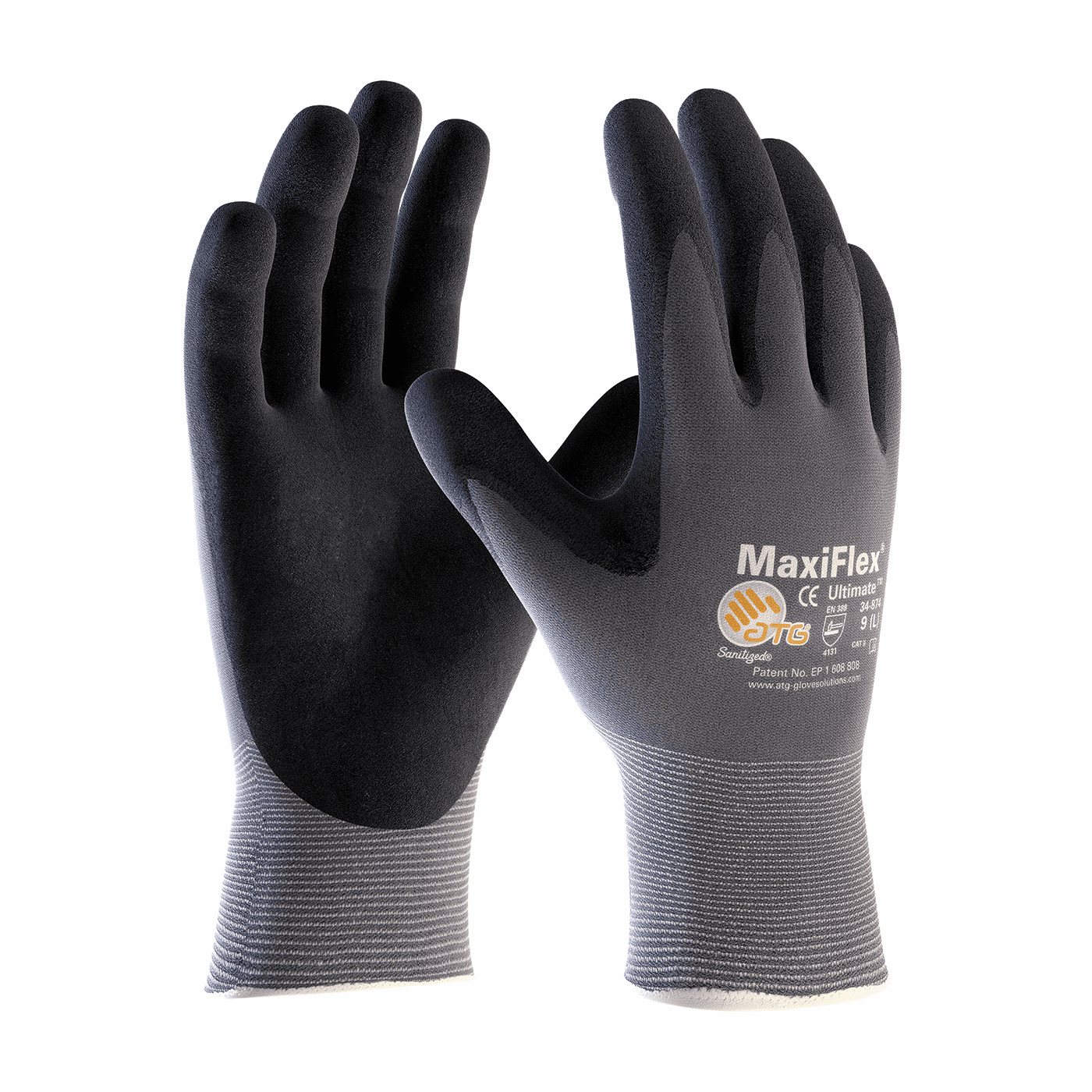 PIP, MaxiFlex� Ultimate� Seamless Knit Nylon / Lycra Glove with Nitrile Coated Micro-Foam Grip on Palm & Fingers