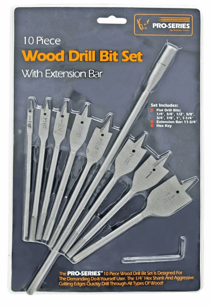 """Pro Series DBS10PRO Wood Spade Bit Set """"OUT OF STOCK"""""""