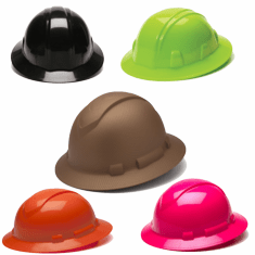 Pyramex Full Brim Hard Hats