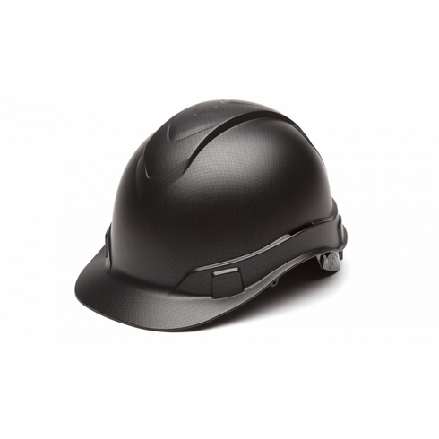Pyramex HP44117 Ridgeline Hard Hat 4-Point Ratchet Suspension Cap Style Brim Graphite
