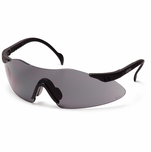 Pyramex, Intrepid, Safety Glasses, Gray Lens Black Frame