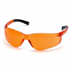 Pyramex S2540S Ztek, Orange Lens Safety Glasses,