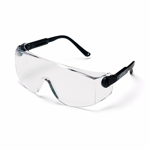 Pyramex SB1010S Defiant Clear Lens Black Frame Safety Glasses