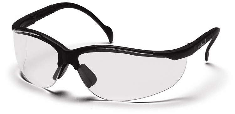 Pyramex SB1810S Venture II, Safety Glasses, Clear Lens With Black Frame
