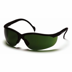 Pyramex SB1860SF, Venture II, Safety Glasses, Black Frame, 3.0 IR Filter Lens The Venture II is fully adjustable to fit most head sizes. Its great, lightweight fit makes it comfortable for wear all day long.