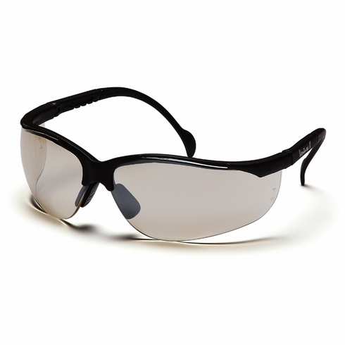 Pyramex SB1880S Venture II Indoor / Outdoor Mirror Lens, Black Frame, Safety Glasses,