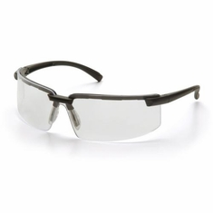 Pyramex,  SB6110S Surveyor, Safety Glasses, Clear Lens Black Frame