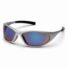 Pyramex SS3375E Zone II Blue Mirror Silver Frame Safety Glasses