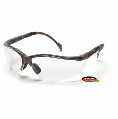 Pyramex, Venture II, Safety Glasses, Realtree Hardwood Frame, Clear Lens