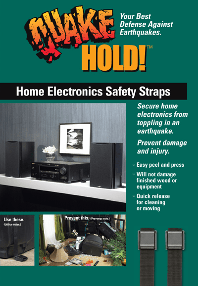 Quakehold Home Electronics Safety Strap Black