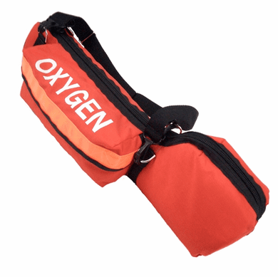 "R&B 250OR-P Orange Padded ""D"" Cylinder Bag"
