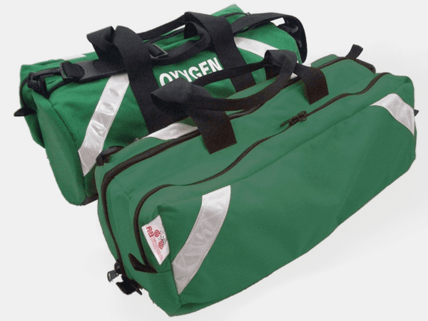 R&B 838GR-PKT Oxygen Roll Bag With Side Pocket