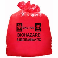 Red Biohazard H131643 Waste Bags