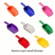 Remco, 6400 Polypropylene Injection Molded Color-Coded Bowl Hand Scoop, 32 oz.