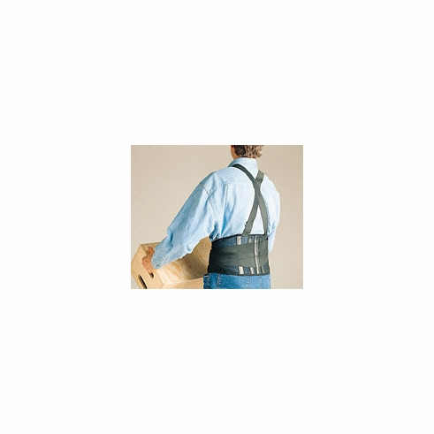 SAS, 7163 Economy Elastic Back Support Black