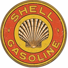 Shell Gasoline T1964 1920's Round Tin Sign
