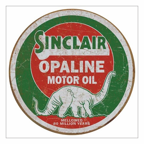 Sinclair Opaline T2047 Round Tin Sign