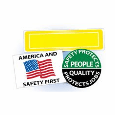 Small Hard Hat Labels / Decals