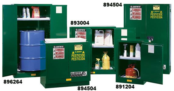 Specially sized Pesticide Safety Cabinets improve safety and convenience.