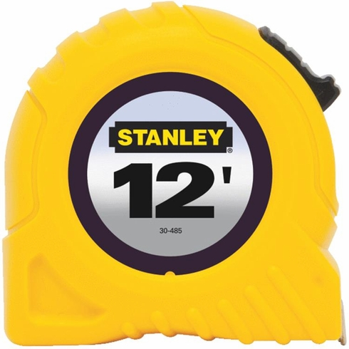 "Stanley 30-485 1/2"" X 12' Yellow Tape Rule"