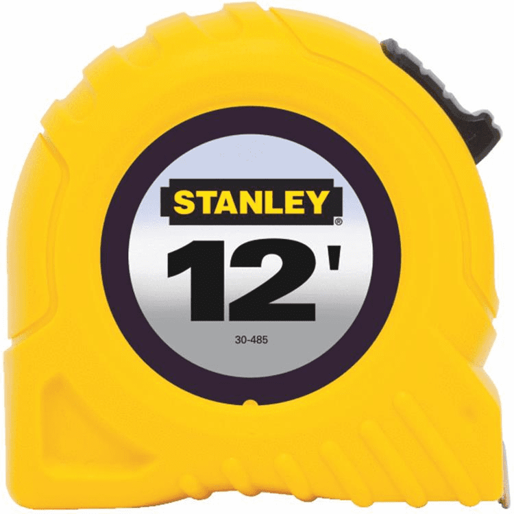 """Stanley 30-485 1/2"""" X 12' Yellow Tape Rule"""
